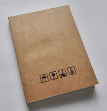 simple design soft cover kraft paper mini blank notebooks for kids with colorful paper inside