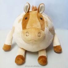 2015 new design stuffed animal toy cute horse plush ball