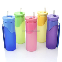 bpa free drinking silicone water bottle collapsible black water bottle