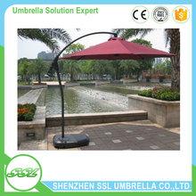 360 degree turnover professional custom advertising garden outdoor umbrella