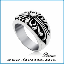 Wholesale cz stone men silver rings with blue stone