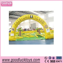 2015 mini inflatable golf game, movable golf game