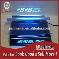 Custom design are welcome! clear acrylic laptop stand with led light