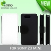 Best price sublimation flip leather phone case for sONY z3 mini