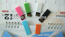 Promotional giveaways!! plastic book clip usb flash 4GB, best gift for students