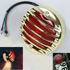 BJ-LPL-017 Top sale aluminum round 12V bulb motorcycle tail light assembly with brake for Chopper rat