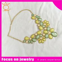 Multirow rings chunky faux pearl necklace holiday