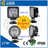 Most Popular 27w E9 certificate car led spot light 12v led lamp, 27w led work light for offroad, heavy duty