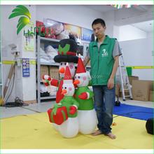 Newest Hongyi Customized Inflatable Lovely Cartoon Snowman Model