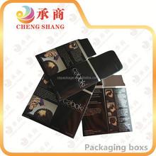Custom high quality luxury empty folding paper cosmetic box