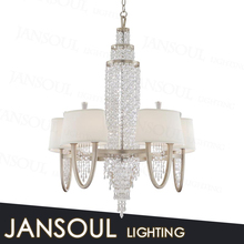 fancy crystal candelabra centerpieces wholesale wrought iron decorativel chain chandelier with european lampshade