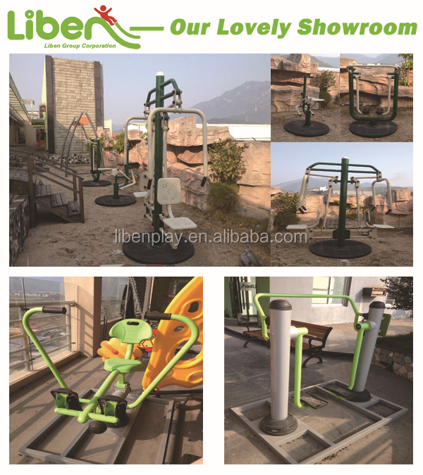 Lovely showroom for Liben outdoor fitness gym equipment