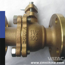 Vatac Bronze/Brass Floating Ball Valve with Flange Connections