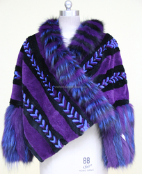 Fancy For Ladies Woman Wear Stole Fur Stole Shawl