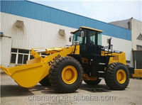 Powershift gearbox 162kW Shangchai engine 17.1 ton hydraulic rc wheel loader for sale