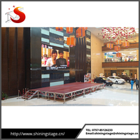 Hot sale 4ft by 4ft aluminum foldable stage