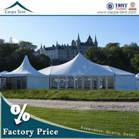 beautiful party wedding decoration aluminium frame pvc frabic canopy marquee tent with glass door