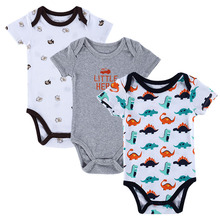 BABY BODYSUITS 3PCS 100%Cotton Infant Body Bebes Short Sleeve Clothing Similar Carters Jumpsuit Printed Baby Boy Girl Bodysuits