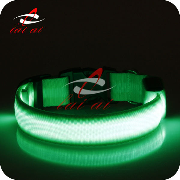 White strip 3 flash modes S-M-L size pet products led dog collar