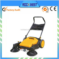 hand-operated mechanical manual floor sweeper