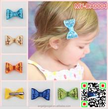 latest hairband fancy hair accessories claw clips designs blingbling Sequin hair metal bow headband MY-DA0004