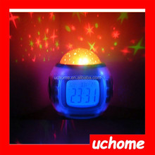 UCHOME Hot Sale high quality Novelty LED music starry star sky projection alarm clock