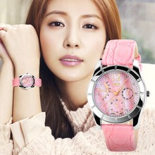 New Design Leather Strap Fashionable Womens Watches