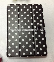 Factory !!!! pu leather case with stylus holder for ipad mini ,folding stand leather case for ipad mini 2 wallet