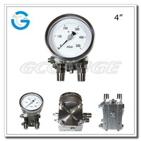 High quality stainless steel 4 inch dial low pressure diff pressure gauge