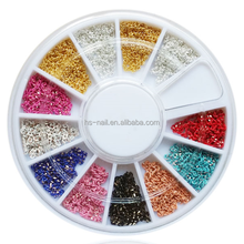 2015 3D DIY 12 colors 20cm/color packing metal chain for nail art decoration
