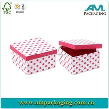 Luxury Polka Dots Printed Gift Paper Box