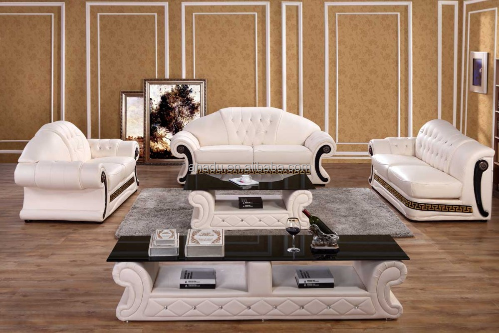 Luxury royal european style sofa set buy top grain leather sectional sofa living room sofa set - Add luxurious look home royal sofa living room ...