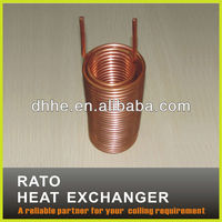 heat exchanger double wall copper tube coil