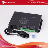 T-200K online Led Pixel Led Controller T-200K Program by PC For WS2812 WS2811 WS2801 Pixels Strip 8ports*512pixels with SD card