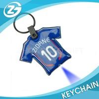 Soccer Shirt PVC Puffy LED Keychain Ring