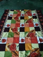 Turkey style household blanket flower printed polar fleece blanket
