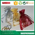 china fashion di seta 28x30 densità sacchetti di organza per il regalo
