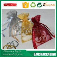 fashion china silk 28x30 density organza bags for gift