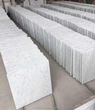 Carrara white marble project tile