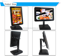 10 inch quad-core capacitive touch screen table top advertising display table top advertising display