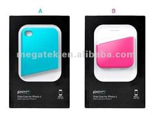 Cell phone case phone accessories Free assembly Dual color slide hard case for iphone 4