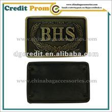 2012 Customised Delicated Metal Badge Logo For Handbags