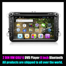 VW GOLF 6 dvd player 2din 8inch Android Car DVD Player with all Functions