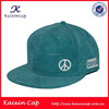 custom 6 panel design your own logo with 3d embroidery high quality flat short brim corduroy snap back hat and cap