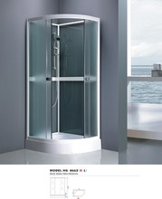 5mm fabric safty glass white aluminium with hand shower frame shower room