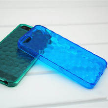 3D Water Cube Style Design jelly soft TPU transparent clear Case For iPhone 5 5g 5s