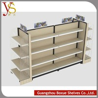 store used wooden and metal design boutique display shelf