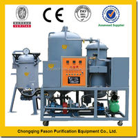High efficiency vacuum dehydration used engine Oil treatment