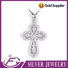 Latest design aaa cz stone 925 silver egyptian ankh pendant