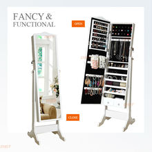 Hottest commodity, floor standing mirror jewelry cabinet in Shenzhen